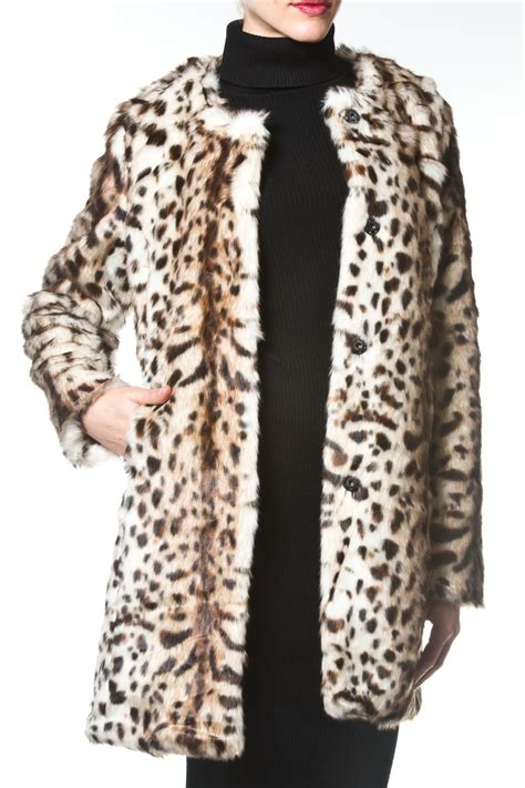 madonna in a fur coat madonna co leopard faux fur coat from east side by