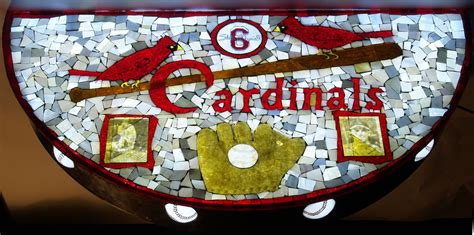 st louis cardinals table l handmade st louis cardinals memorabila table by david l