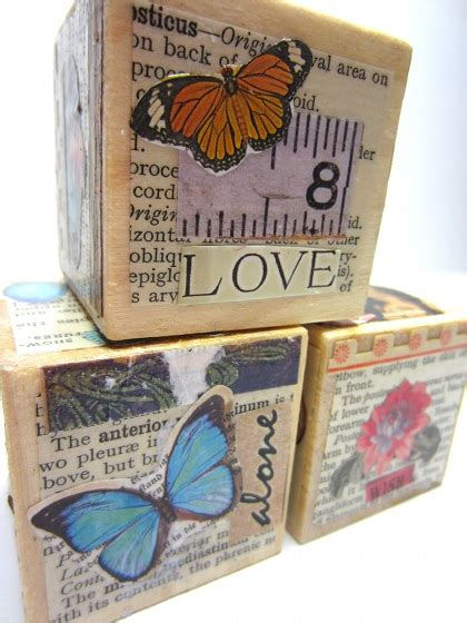Decoupage Photos On Wood Blocks - how to decoupage a collage onto blocks