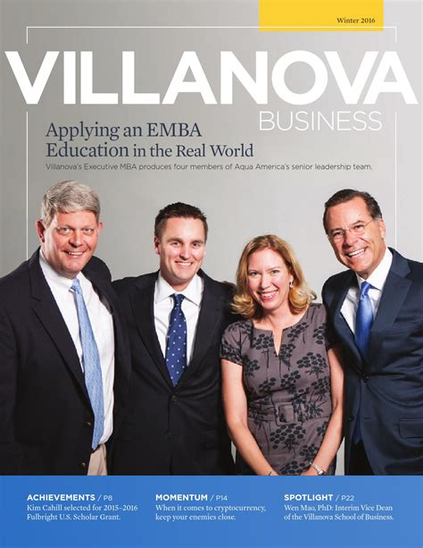 Villanova Mba Ranking 2015 by Winter 2016 Villanova Business Magazine By Villanova