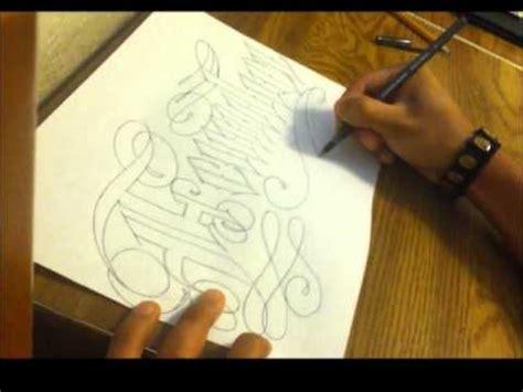 cursive  english tattoo lettering youtube