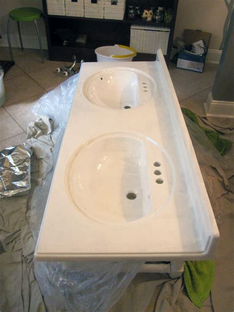 Refinishing Cultured Marble Vanity Tops by 187 Refinishing The Bathroom Vanity Top Part 1 Julepstyle