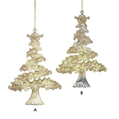 ivory and gold christmas tree ornament gold color