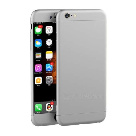 naxtop 3 in 1 pc protective for iphone 6s 6 silver free shipping dealextreme