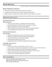resume samples restaurant hostess - Hostess Resume Sample