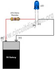 simple basic led circuit circuit diagram