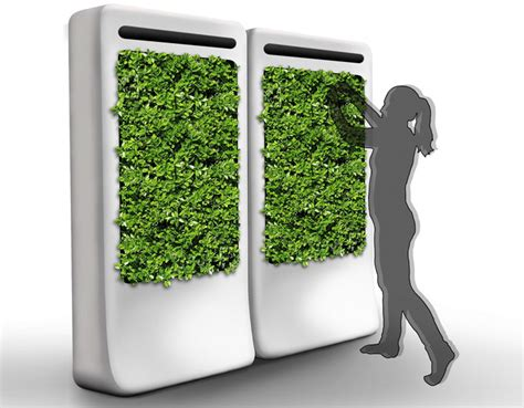 freshwall indoor vertical garden purifies the air while