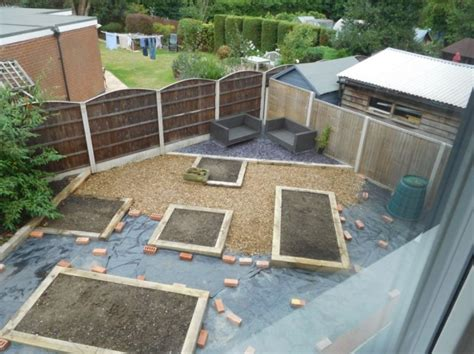 Railway Sleeper Bed by New Oak Railway Sleepers Raised Bed Gravel Garden