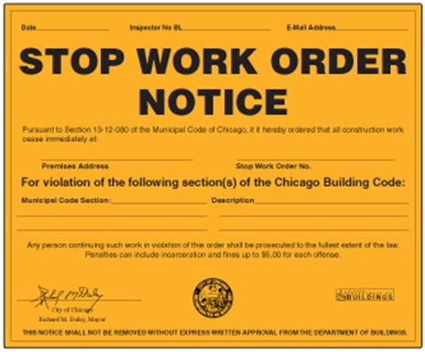 stop work order my new website building violations