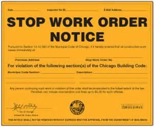 stop work order my new website building violations