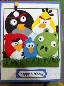 feelin scrappy angry birds birthday card