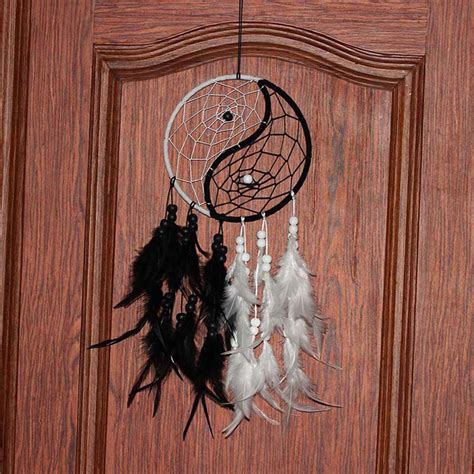 home decor hanging fashion wind chimes peacock feather pendant dream catcher