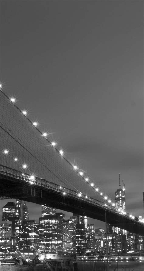 wallpaper for iphone 6 new york download brooklyn bridge new york city in black white