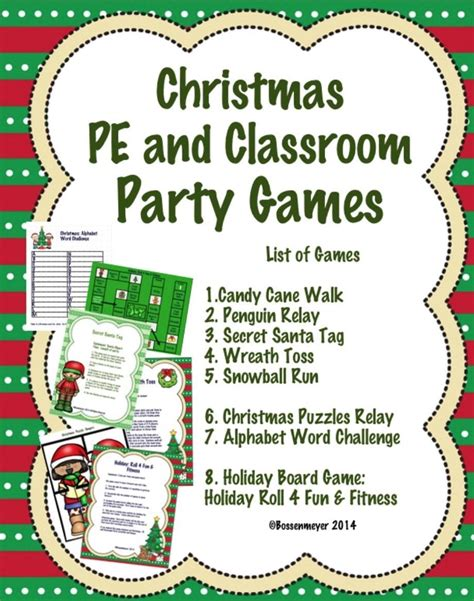christmas games for the classroom pe and classroom peaceful playgrounds