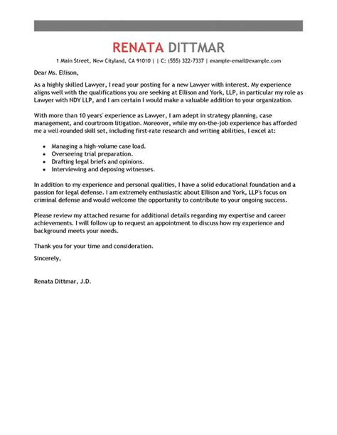 sle cover letter for in house counsel position cover
