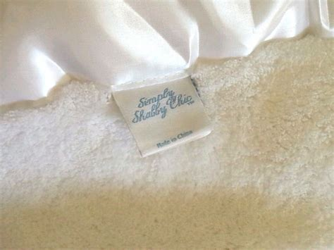 simply shabby chic full queen white blanket cozy country