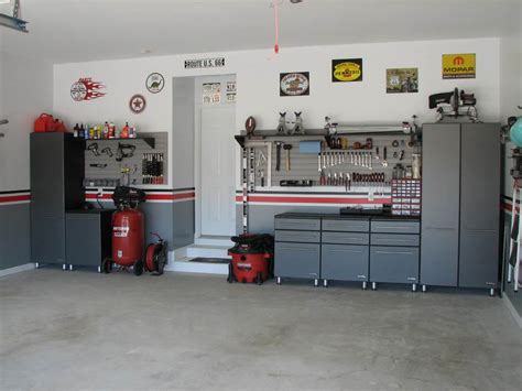 modern design of the garage layout ideas that has