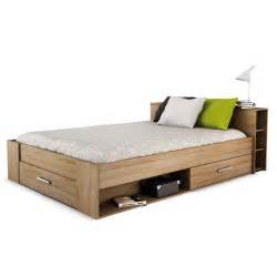 lit avec t 234 te de lit 233 tag 232 re et niches 140cm x 190cm ch 234 ne