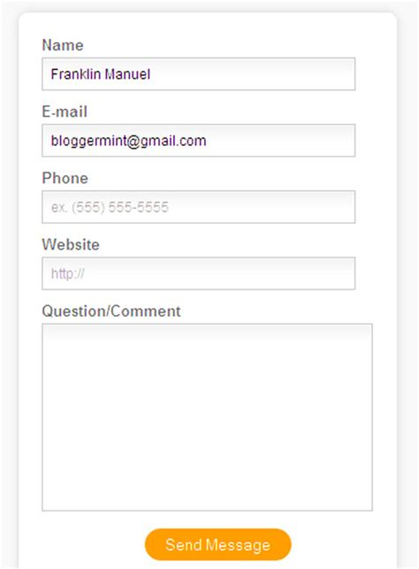 design form html5 17 best html contact form design freebies