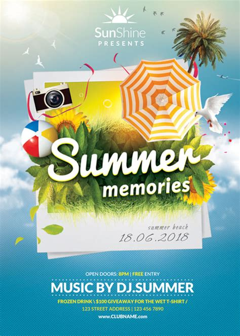 summer c flyer template summer memories flyer template by brielldesign on deviantart