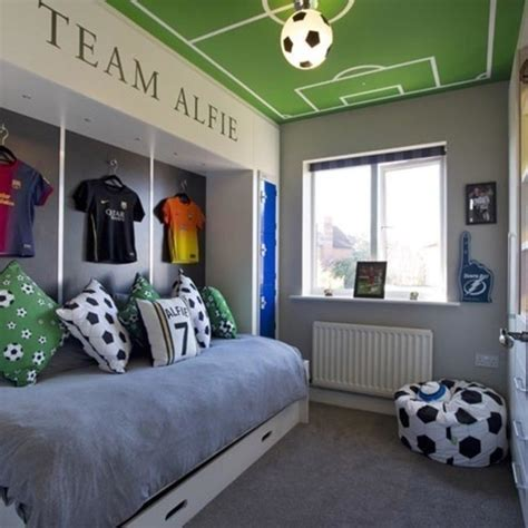 Creating The Perfect Boy S Bedroom Growing Family Football Bedroom Decor