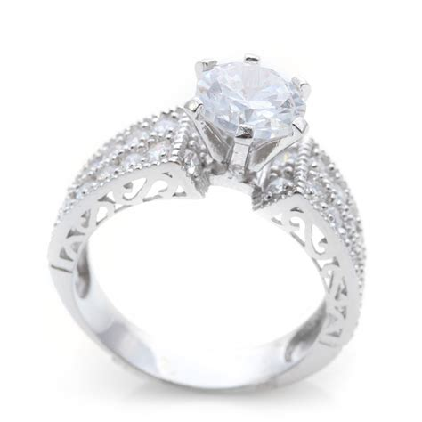 sterling silver micro pave engagement ring saar0081