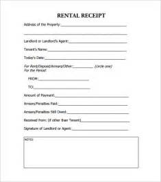 landlord rent receipt template rental receipt template 36 free word excel pdf