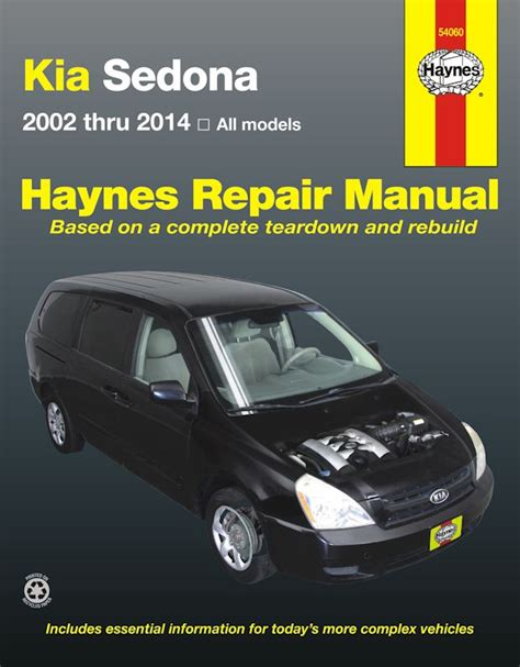 how to download repair manuals 2008 kia rio instrument cluster kia sedona service repair manual 2002 2014 haynes 54060