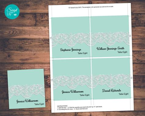 guest place card template wedding guest name place cards template instant