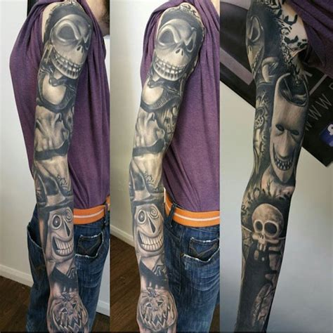 nightmare before christmas tattoo sleeve cool inspired by the nightmare before