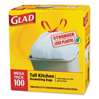 How Many Gallons Is A Kitchen Bags by Glad Drawstring Kitchen Bags 13 Gallon 95mil 24 X