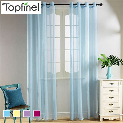 1pcs green willow sheer curtain for living room window aliexpresscom buy top finel faux voile sheer curtains