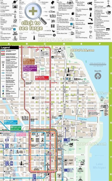 chicago map for tourists 25 best ideas about chicago river on river in