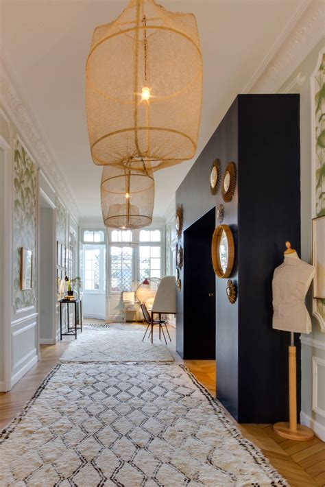 chic eclectic hallway designs