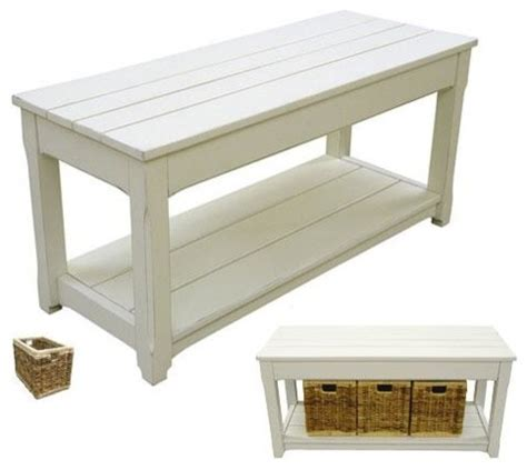 resin storage bench new bench white painted resin hardwood plank beach style