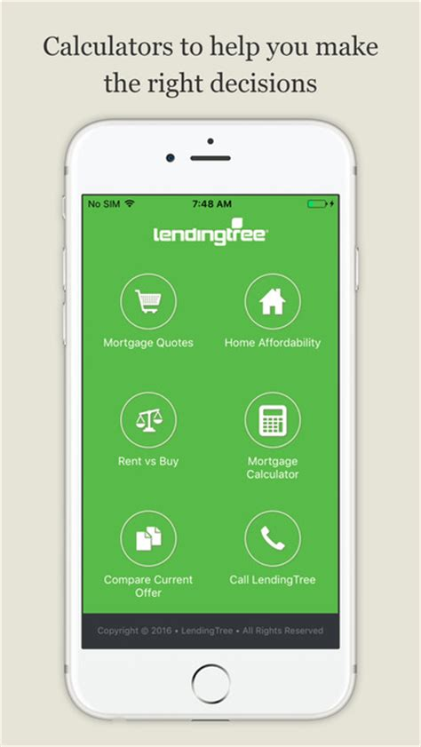 lendingtree mortgage calculator home loan rates app