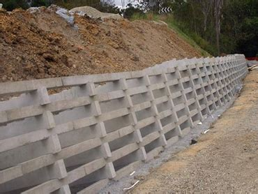 retaining walls concrete crib and sleeper wall systems by