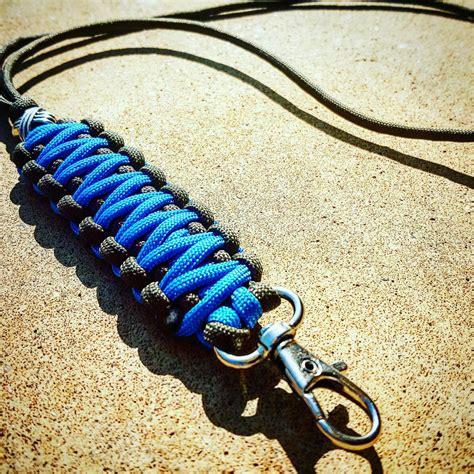 Paracord Neck Black 100cm Keren black and blue paracord neck lanyard keychain