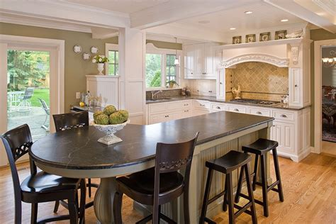 kitchen with island and breakfast bar bar height kitchen island kitchen traditional with