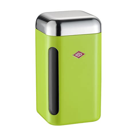 lime green kitchen canisters buy wesco square canister 1 65l lime green amara