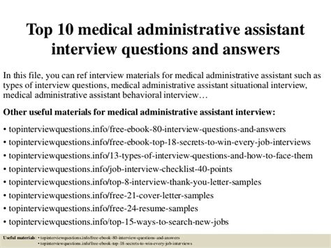top 10 administrative assistant questions and answe