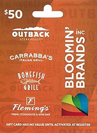 Bloominbrands Com Gift Card Balance - amazon com bloomin brands gift card 50 gift cards