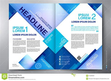 brochure design two pages a4 template stock vector image