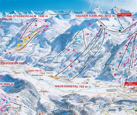 skipass hauser kaibling cross country skiing trail map hauser kaibling schladming