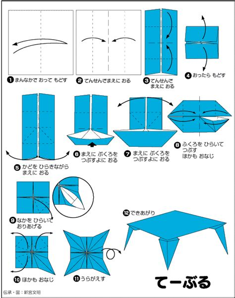 How To Make A Paper Table - extremegami how to make a origami table