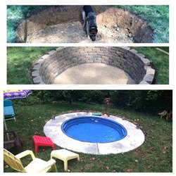 Backyard Pool Supply Mini Pool Build Using A Stock Tank From Tractor Supply Then Take It Out In Colder Months