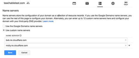 Domain Google Nameserver