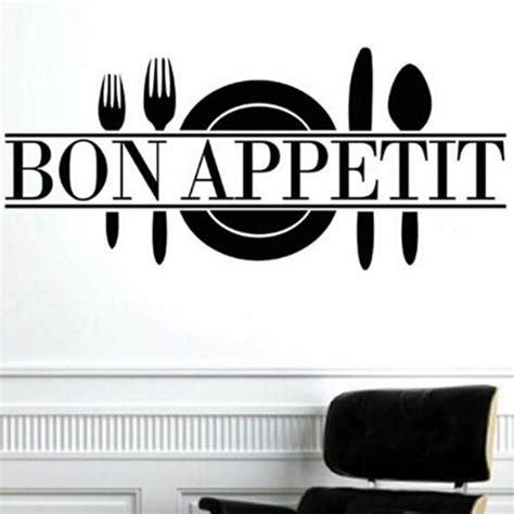 kitchen wall vinyl stickers quot bon appetit quot quote living room kitchen vinyl wall