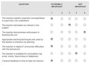 Qualitative Questionnaire Template by Feedback Questionnaires For Evaluating Teaching