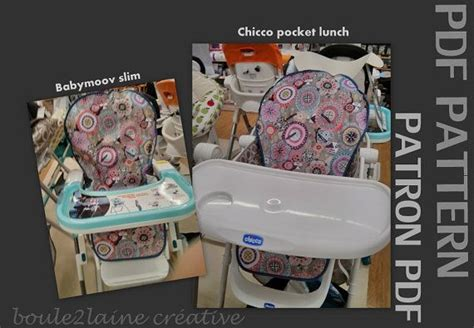 pdf patern diy high chair cover patron et tuto pour housse chaise haute graco tea time